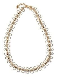 Collier à anneau délicat