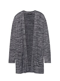 Soft Jersey Long Cardigan