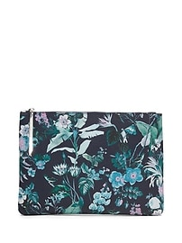 Botanical Print Large Pouch