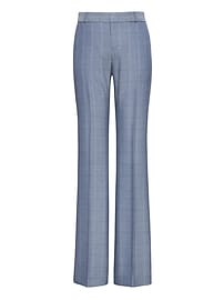 Pantalon en tweed à motifs de carreaux de fenêtre, coupe tailleur Logan