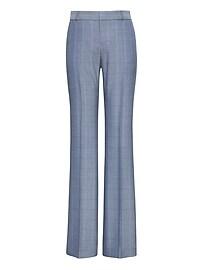 Logan Trouser-Fit Windowpane Tweed Pant