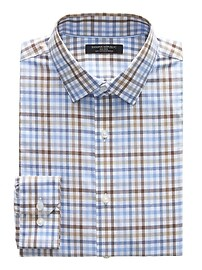 Grant Slim-Fit Non-Iron Stretch Gingham Shirt
