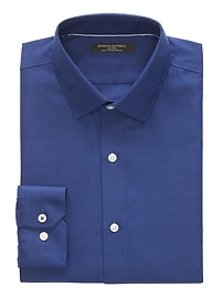 Camden Standard-Fit Cotton Stretch Non-Iron Solid Shirt