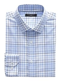 Camden Standard-Fit Non-Iron Stretch Plaid Shirt