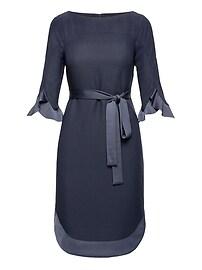 Flounce Sleeve Tie-Waist Dress