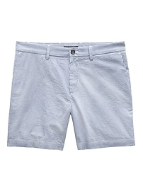 "Aiden Slim 7"" Seersucker Short"