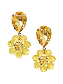 Citron Floral Drop Earring