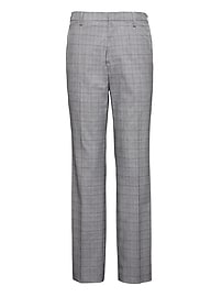 Slim Non-Iron Stretch Cotton Plaid Pant