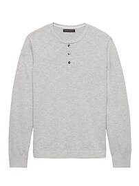 Cotton Sweater Henley