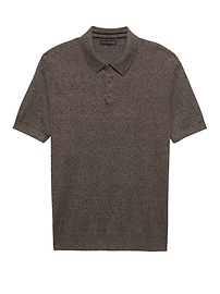 Silk Linen Sweater Polo