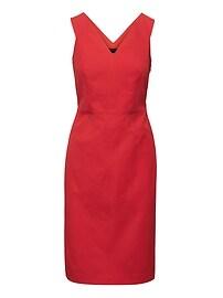 Bi-Stretch Double-V Sheath Dress