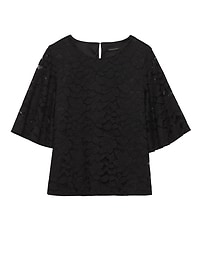 Lace Flare-Sleeve Top