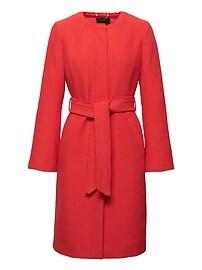 Bouclé Long Coat