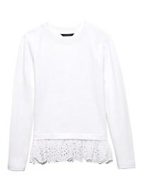 Eyelet Hem Couture Sweatshirt