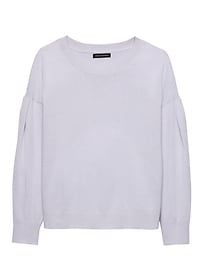 Feather Touch Rounded Sleeve Crew