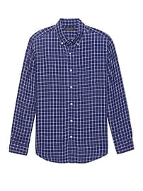 Camden Standard-Fit Check Linen Shirt