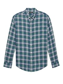Camden Standard-Fit Plaid Linen Shirt