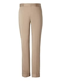 Avery Straight-Fit Sateen Pant with Cuff