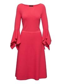 Handkerchief-Sleeve Sweater Dress
