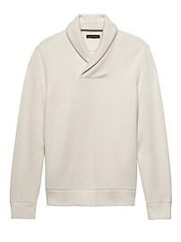 French-Rib Shawl-Collar Pullover