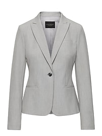 Classic-Fit Machine-Washable Birdseye Blazer