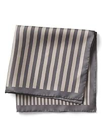 Multi Stripe Silk Pocket Square