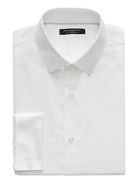 Camden Standard-Fit Non-Iron Stretch French Cuff  Shirt