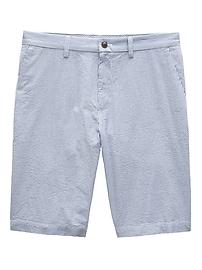 Short droit Emerson en tissu gaufré (28cm)