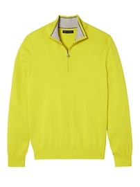 Pima Cotton Cashmere Half-Zip