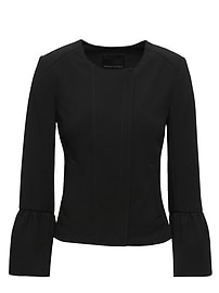 Bi-Stretch Flounce-Sleeve Jacket