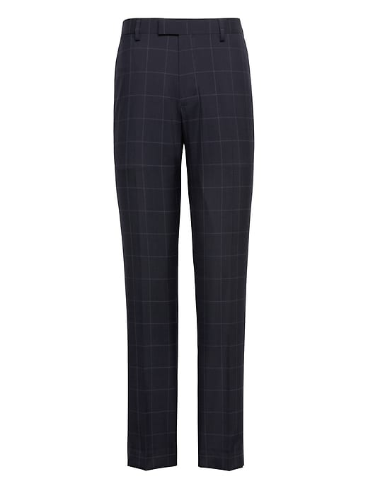 Slim Navy Smart Weight Performance Wool Blend Suit Pant by Banana Repbulic
