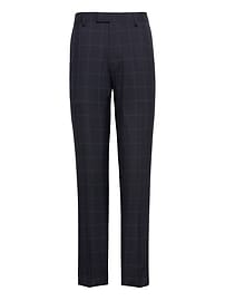 Slim Navy Smart-Weight Performance Wool Blend Suit Trouser