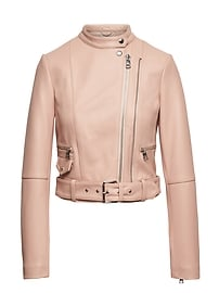 Heritage Cropped Leather Moto Jacket