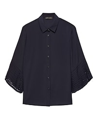 Dillon Classic-Fit Pleat-Sleeve Shirt