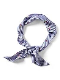 Foulard cache-nez à motifs de rayures et d'ananas