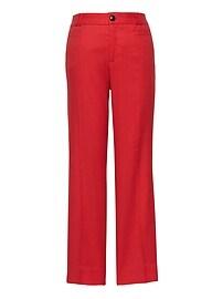 Logan Trouser-Fit Cropped Stretch Linen-Cotton Pant