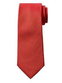 Cravate en soie NanotexMD texturée quadrillée