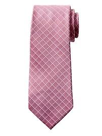 Cravate Nanotex® à motifs carreaux de fenêtre