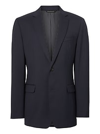 Standard Solid Wool Suit Jacket