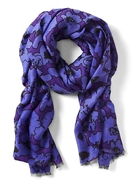 Victoire Floral Rectangular Scarf