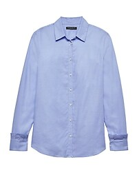 Dillon Classic-Fit Ruffle-Cuff Shirt