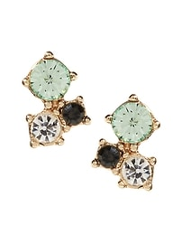 Delicate Color Cluster Stud Earring