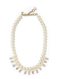 Collier à perles et pierres géométriques