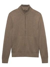 SUPIMA® Cotton Full-Zip Sweater Jacket