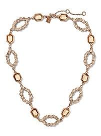 Collier d'apparat ouvert orné de bijoux