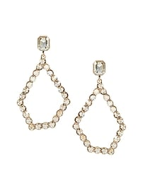 Jeweled Open Statement Earring