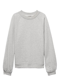 French Terry Balloon-Sleeve Couture Sweatshirt
