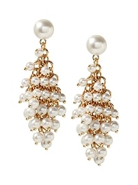 Mesh Pearl Statement Earring