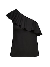 One-Shoulder SUPIMA® Cotton Top