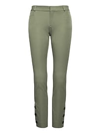 Sloan Skinny-Fit Bi-Stretch Pant with Button Hem